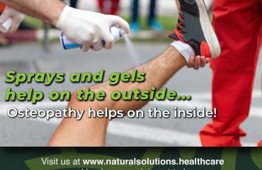 Sprays and gels help on the outside...Osteopathy helps on the inside!